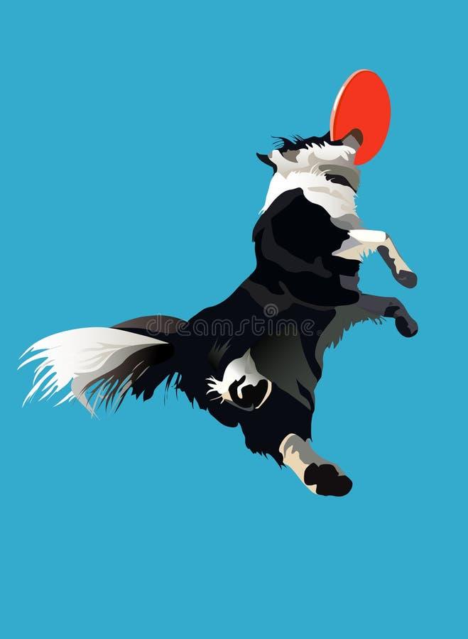 Hond-Frisbee1 vector illustratie