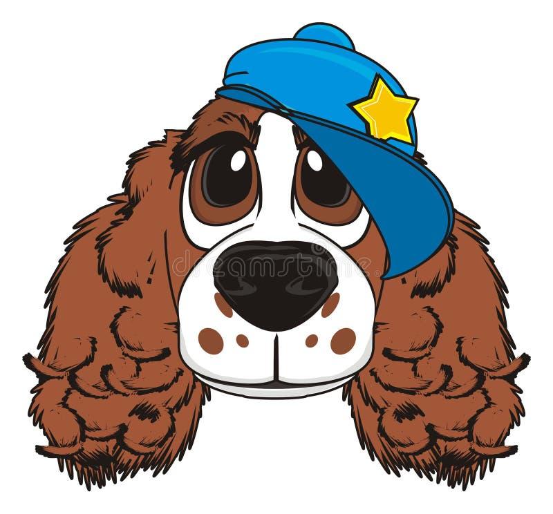 Hond in GLB royalty-vrije illustratie