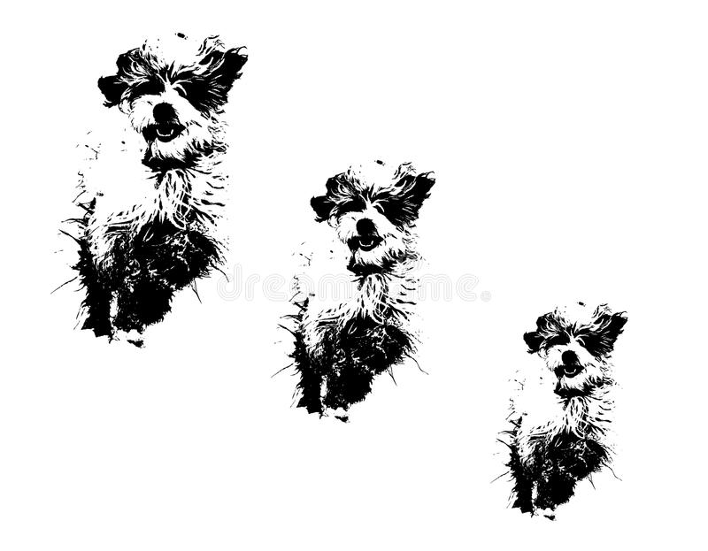 Hond grunge vector illustratie