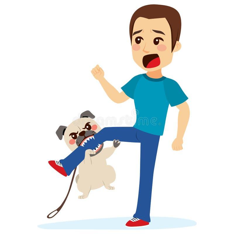 Hond het Aanvallen vector illustratie