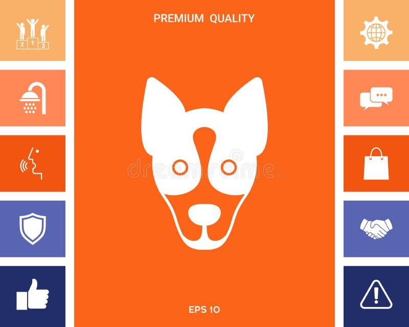 Hond - het embleem, symbool, beschermt teken stock illustratie