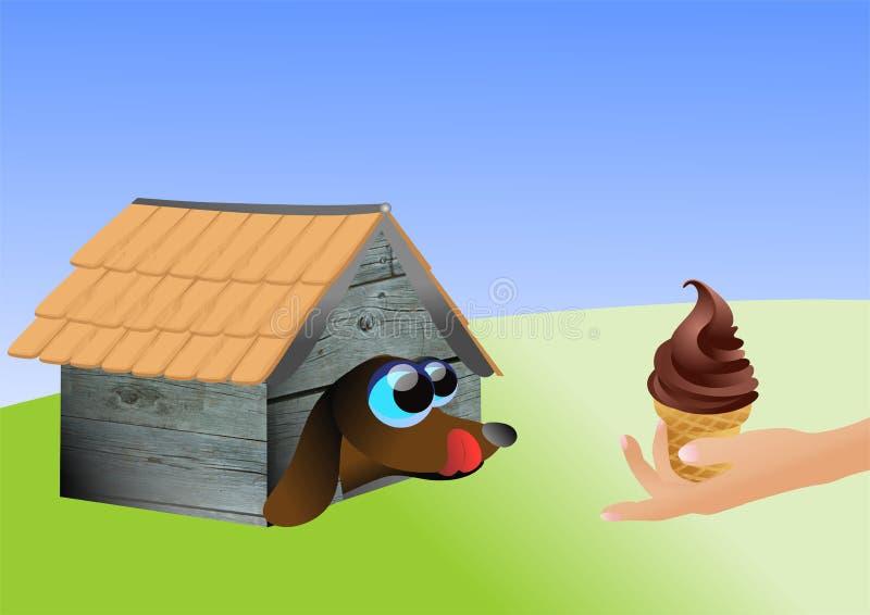 hond het kwijlen stock illustratie