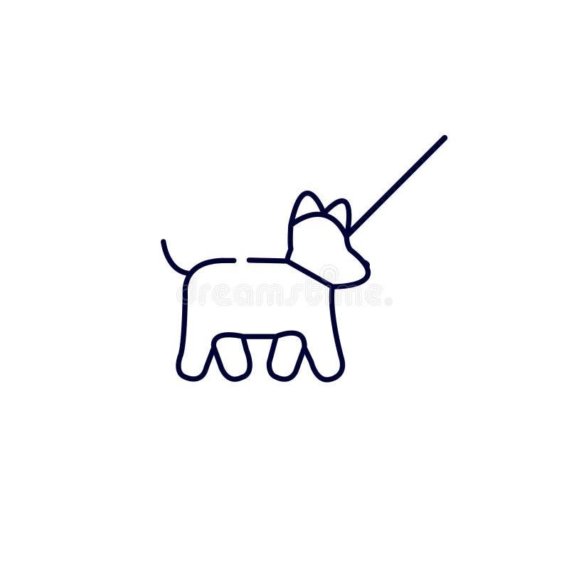 hond het lopen pictogram, Vectorillustratie Vlak pictogram Op witte achtergrond vector illustratie