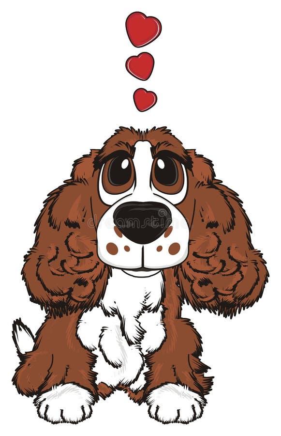 Hond in liefde stock illustratie