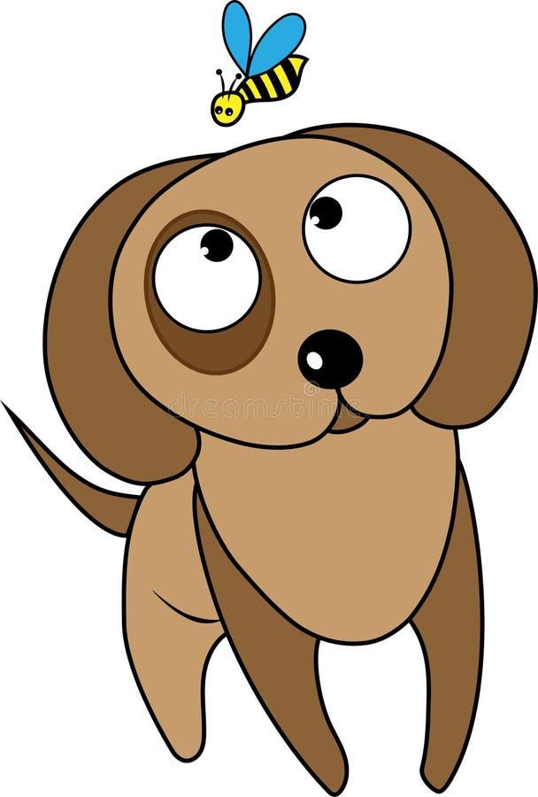 Hond met bij stock afbeeldingen
