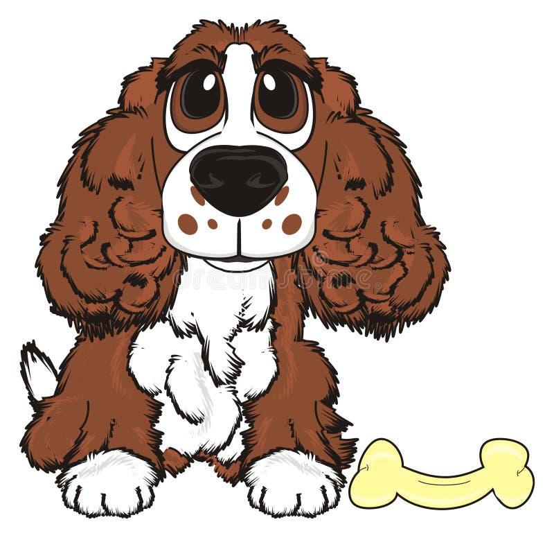 Hond met voedsel vector illustratie