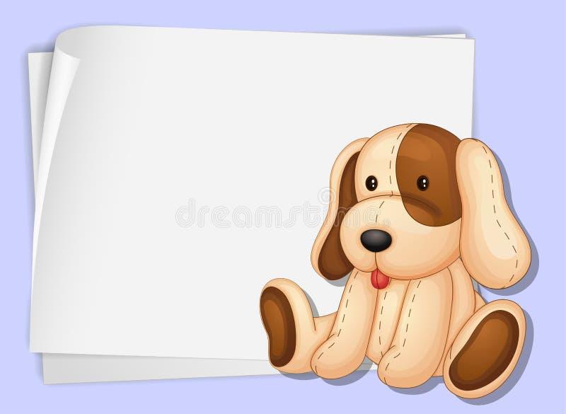 Hond op papier stock illustratie