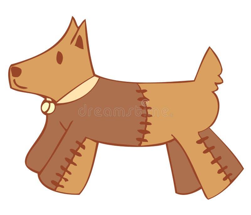 Hond peluche. vector illustratie