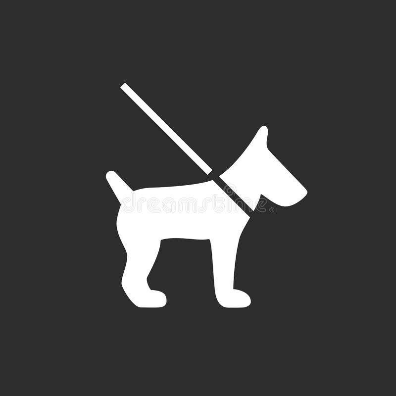 Hond Vectorpictogram stock illustratie