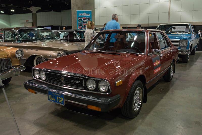 Honda Accord CVCC op vertoning royalty-vrije stock foto