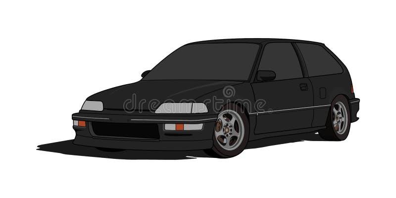 Honda Civic-E-Fhecktürmodell im Vektor stockbild