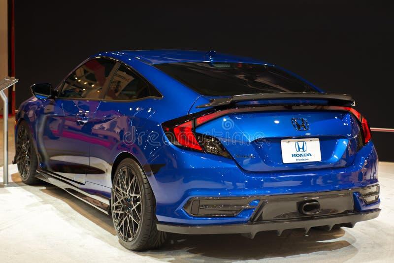 Honda Civic 2016 em SEMA foto de stock royalty free