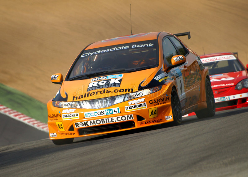 Honda Civic en Integra BTCC royalty-vrije stock foto's