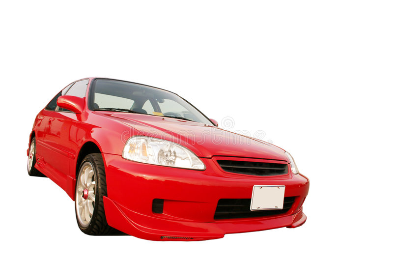 Download Honda Civic EX - Red 3 stock photo. Image of sports, pilot - 37002