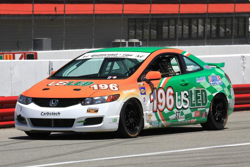 Honda Civic-het rennen van Si royalty-vrije stock afbeelding