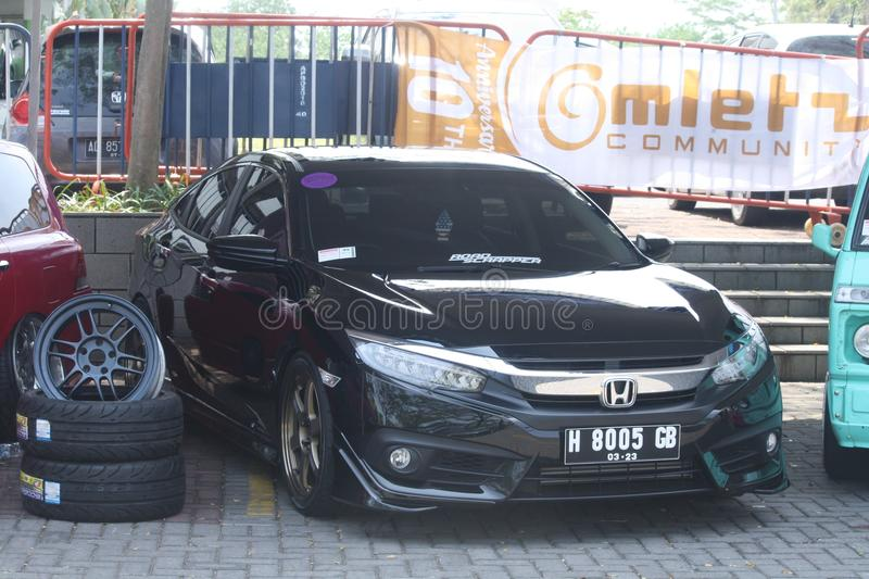 Honda Civic Modif Elegan royalty-vrije stock foto