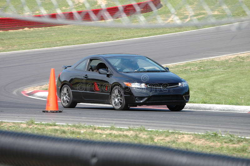 Download Honda Civic Si Driving On Race Course Stock Image - Image: 13856845