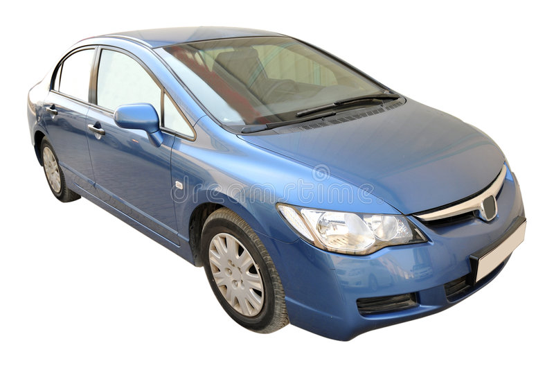 Honda Civic Side. Blue color Honda Civic Lxi 1. 8 I-VTEC car