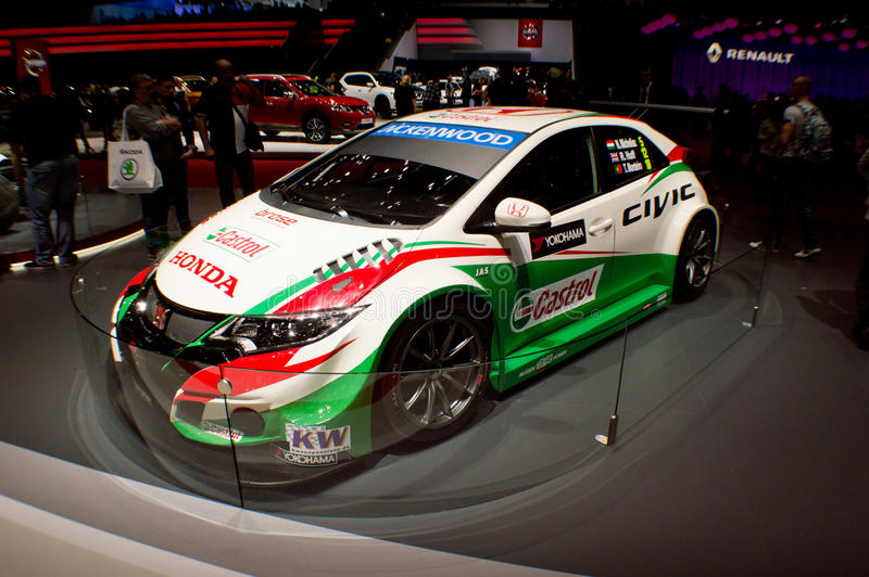 Honda Civic WTCC Genebra 2016 fotos de stock