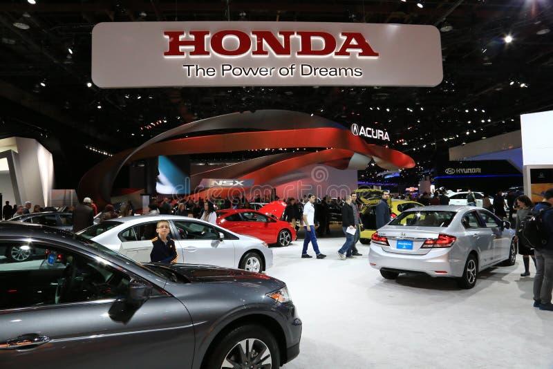 Honda display at the auto show stock photo