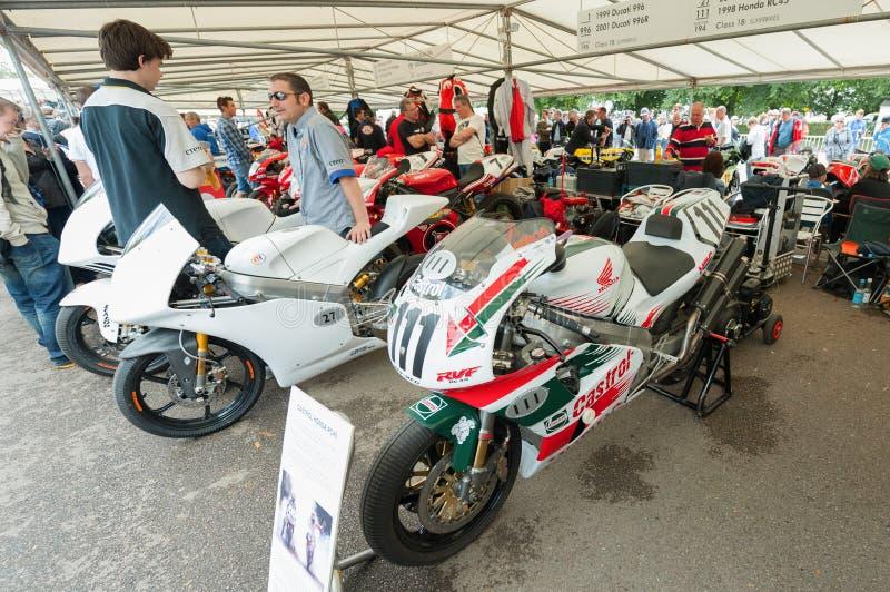 Honda and Ducati royalty free stock image