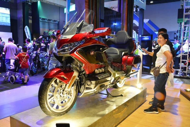 Honda Goldwing Motorrad bei Makina Moto in Pasay, Philippinen stockbild