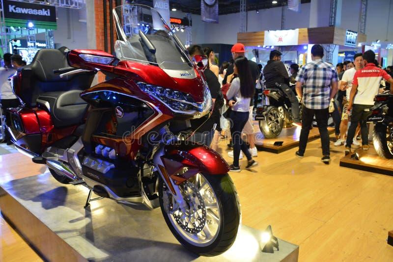 Honda Goldwing Motorrad bei Makina Moto in Pasay, Philippinen lizenzfreies stockbild