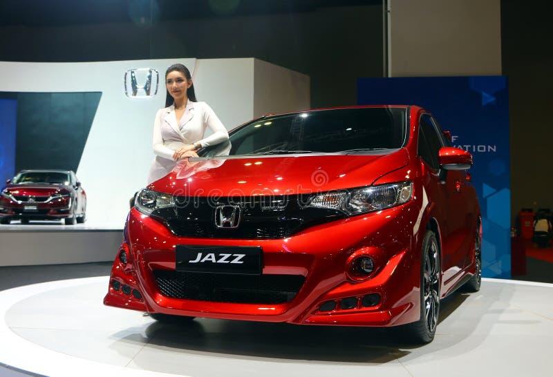 Honda Jazz-vervaardiging door Honda Motor-Bedrijf, Ltd van Japan, tijdens wordt getoond die royalty-vrije stock foto