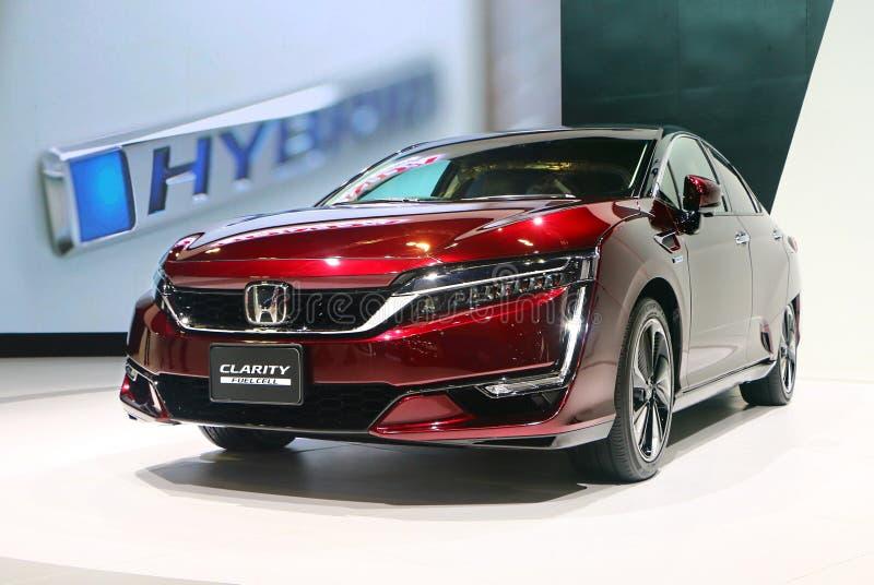 Honda klarowności manufaktura Honda Motor firmą, Ltd japonia, wystawiający podczas fotografia royalty free