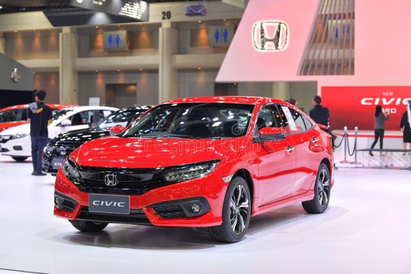 Honda nytt MEDBORGERLIGT RÖTT på expon 2017 för Thailand Internationalmotor arkivfoto