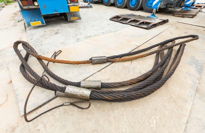 Honda resistente de la cuerda de alambre de acero fotos de archivo libres de regalías