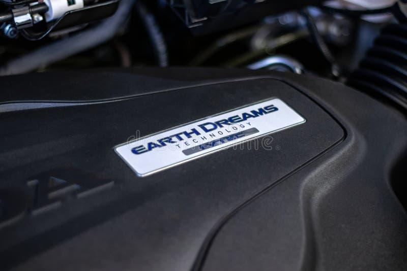 Honda Ridgeline-Lkw-Motor in der Verkaufsstelle lizenzfreies stockbild