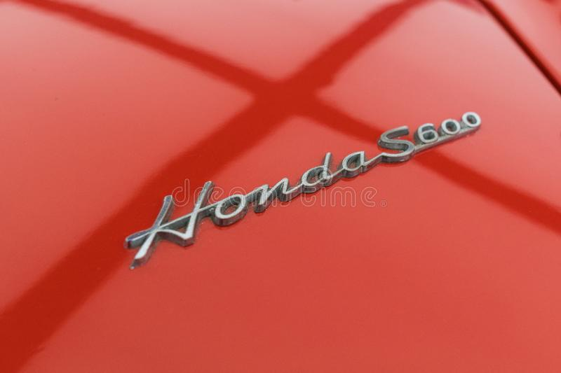 Honda S600 on display during Los Angeles Auto Show royalty free stock photography