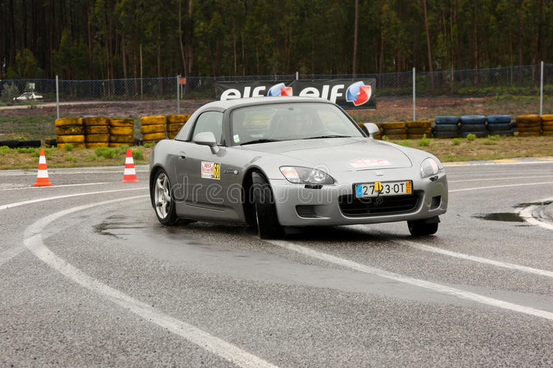 Honda S2000 during Rally Verde Pino 2012 stock photography