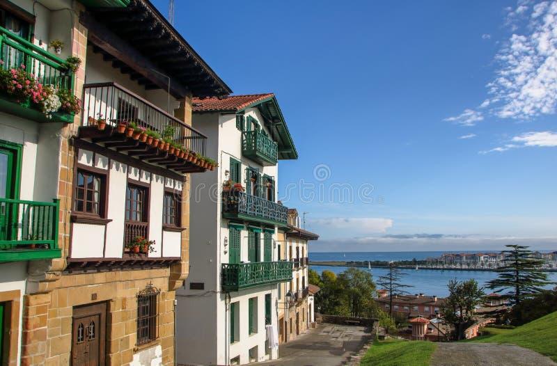 Hondarribia na costa basque da Espanha fotografia de stock royalty free