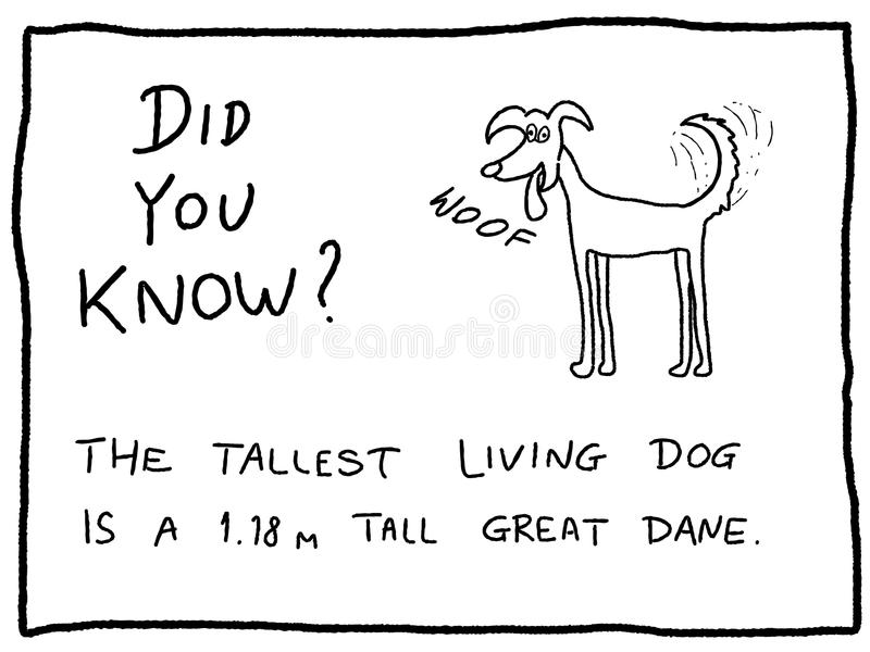 Hondbeeldverhaal stock illustratie
