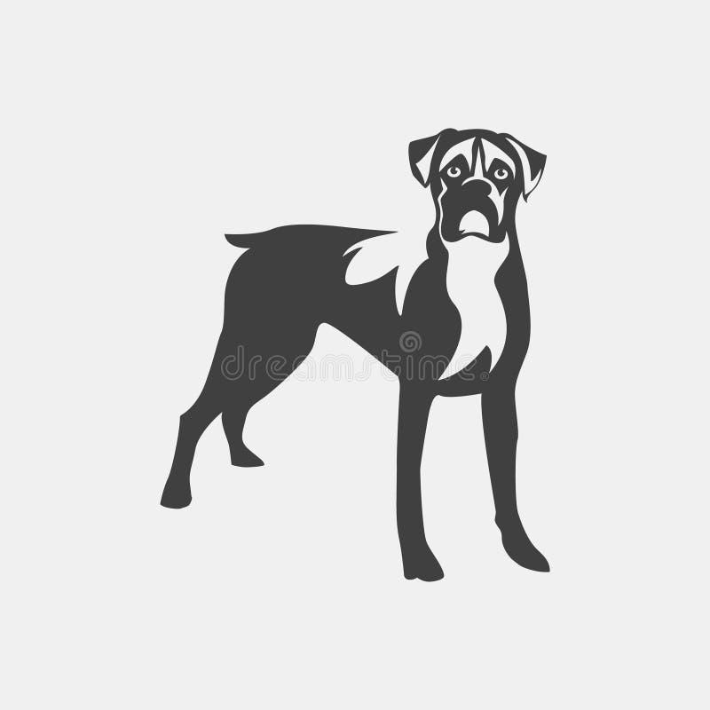 Hondbokser stock illustratie