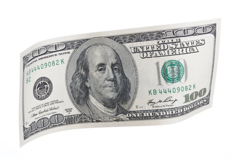 Honderd Dollarnota royalty-vrije stock foto