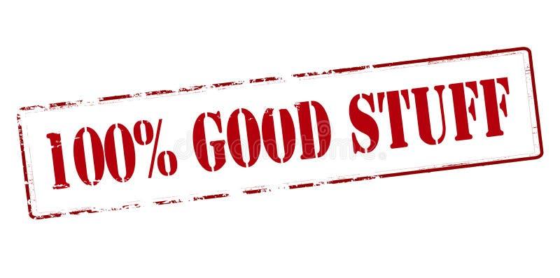 Honderd percenten goed materiaal vector illustratie