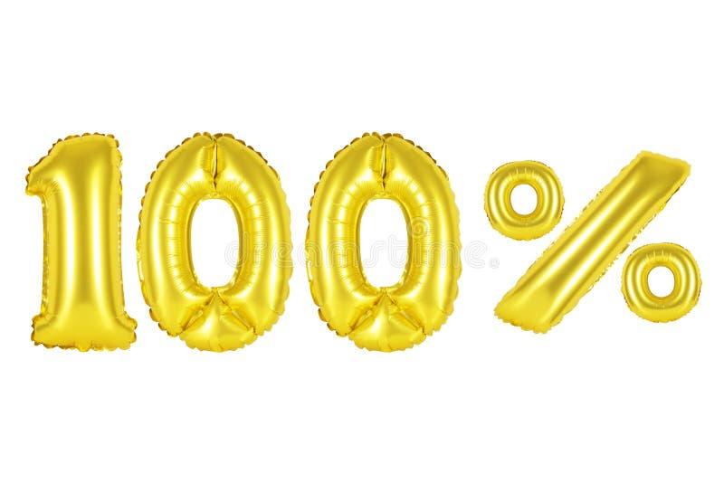 100 honderd percenten, gouden kleur royalty-vrije stock fotografie