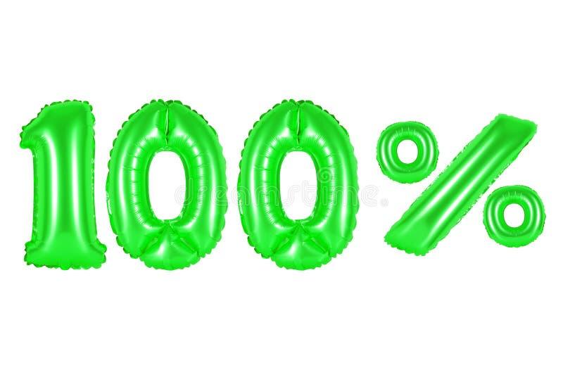 100 honderd percenten, groene kleur royalty-vrije stock afbeelding