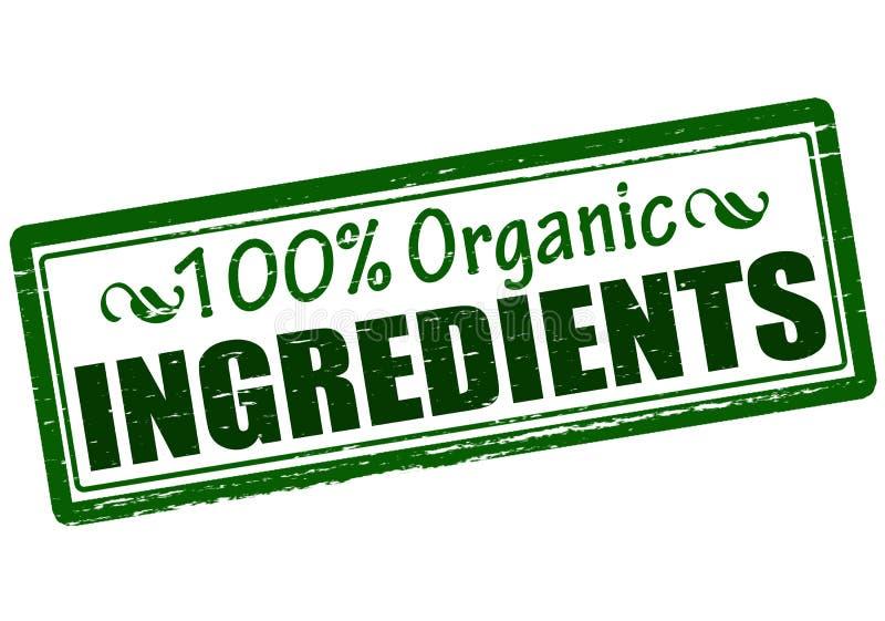 Honderd percenten organische ingrediënten royalty-vrije illustratie