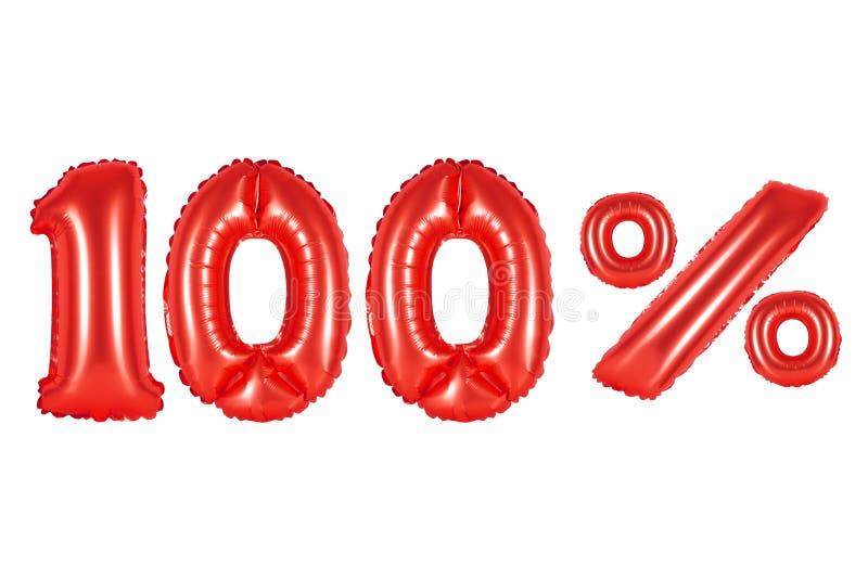 100 honderd percenten, rode kleur stock foto