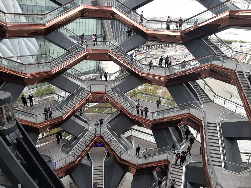 Honderden stappen in het Schip, Manhattan, NCY stock foto