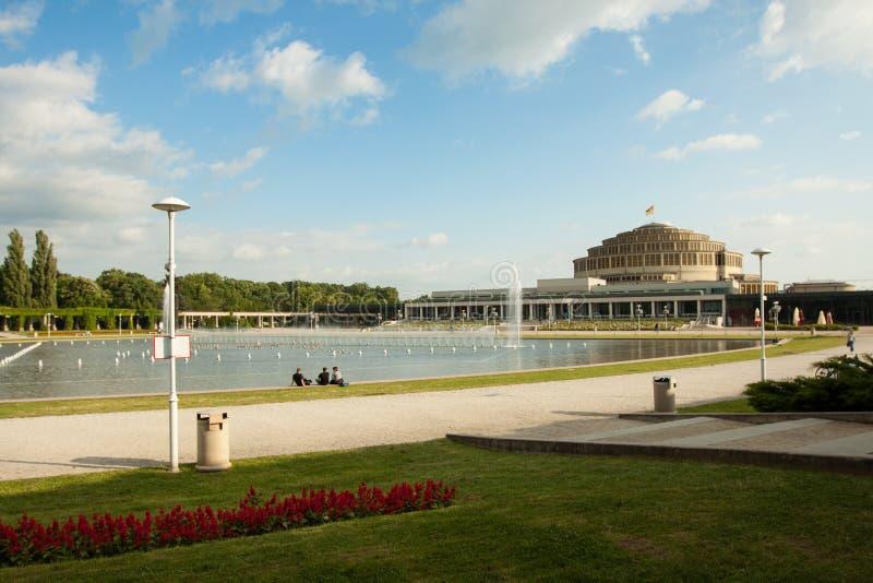Honderdjarig Hall Wroclaw - Polen stock afbeelding