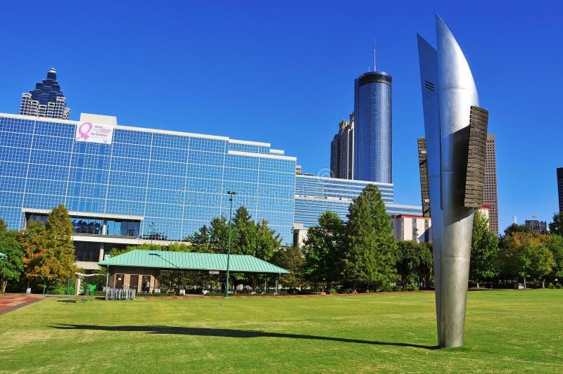 Honderdjarig Olympisch Park, Atlanta, Verenigde Staten stock afbeeldingen