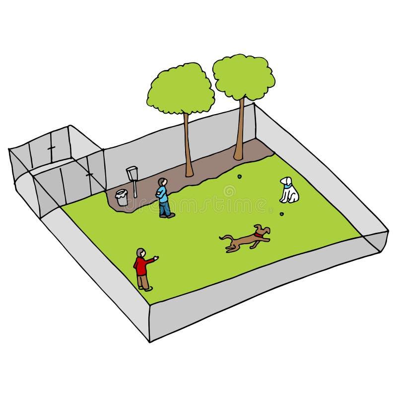 Hondpark stock illustratie