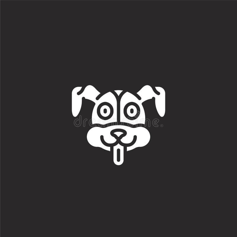 Hondpictogram Gevuld hondpictogram voor websiteontwerp en mobiel, app ontwikkeling hondpictogram van gevulde dierlijke avatars ge royalty-vrije illustratie