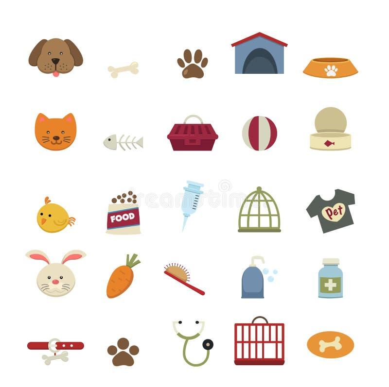 Hondpictogrammen stock illustratie