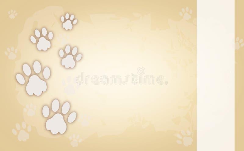 Hondpoten op lichtbruine achtergrond royalty-vrije illustratie